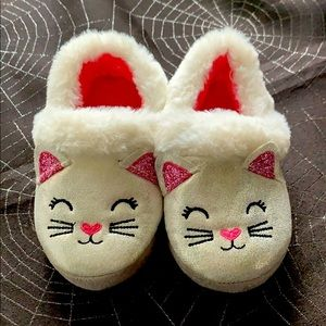 New Cute White Kitty Cat Toddler Shoes Size 7-8